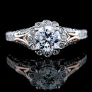 1.22 tcw Antique Style Engagement Ring