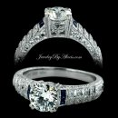 1.40 Antique Style Engagement Ring