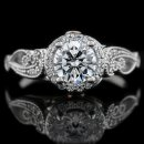 1.34 tcw Antique Style Engagement Ring